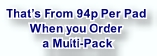 That's From 94p Per Pad